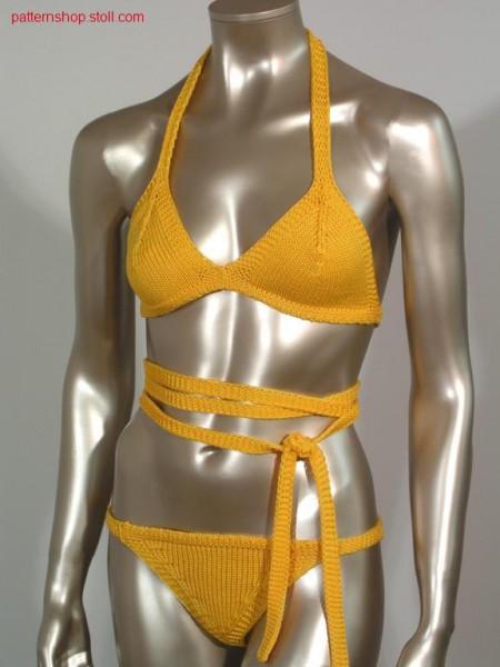 Bikini with knitted on L-L taps / Bikini mit angestrickten L-L B