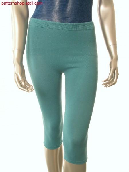Jersey capri leggings with linked-off elastic waist / Rechts-Links Caprileggings mit abgeketteltem Dehnbund