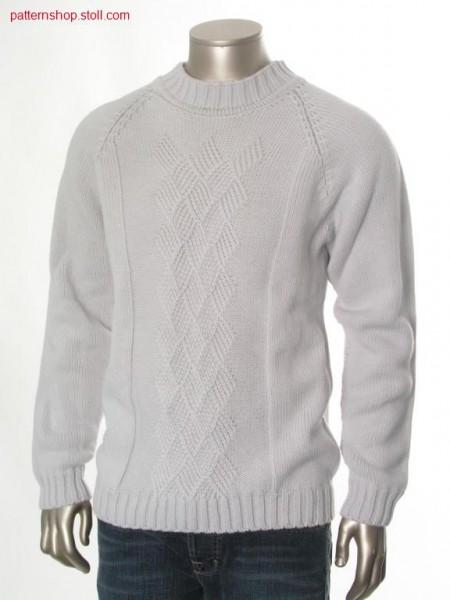 Raglan pullover with aran braid pattern / Raglanpullover mitAran-Flechtmuster