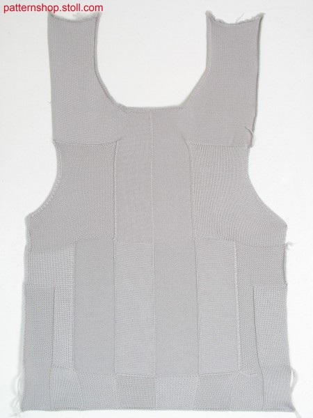 Fully Fashion front in rib optics with round neck / Fully Fashion Vorderteil in Ripp Optik mit Rundhalsausschnitt