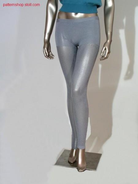 Jersey leggings with pointelle-net structure / Rechts-Links Leggings mit Petinet-Netzstruktur