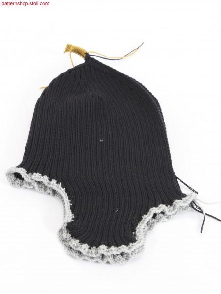Earflap cap in 2x2 rib / M