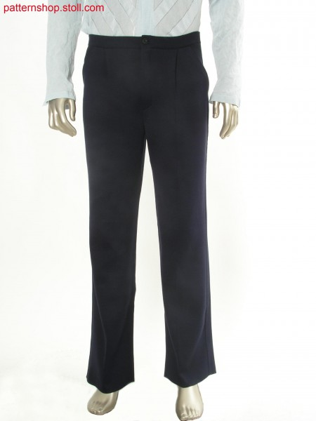 Fully Fashion pleated trousers in milano-rib / Fully Fashion Bundfaltenhose in Milano-Rib
