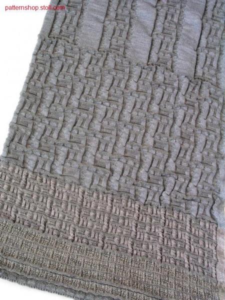 Plated structure scarf / Plattierter Schal mit Strukturmuster