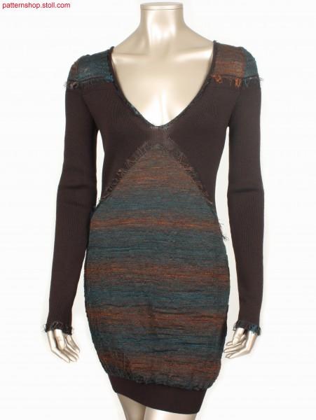Fully Fashion dress with V-neck and fringe decoration / Fully Fashion Kleid mit V-Ausschnitt und Fransen-Verzierung