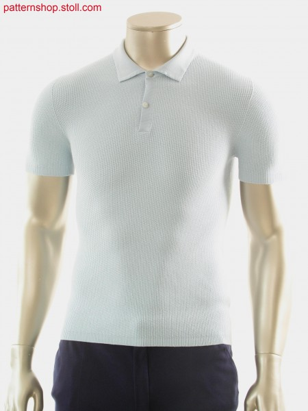 Polo shirt in 1x1 transfer-float structure / Polohemd in 1x1 Umh
