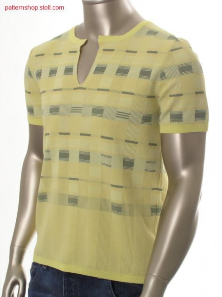 Jacquard-FF T-shirt in milano-rib / Jacquard-FF T-Shirt in Milano-Rib