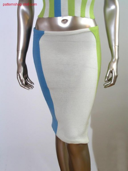 Intarsia skirt in 3x2 rib / Intarsia Rock in 3x2 Rippe