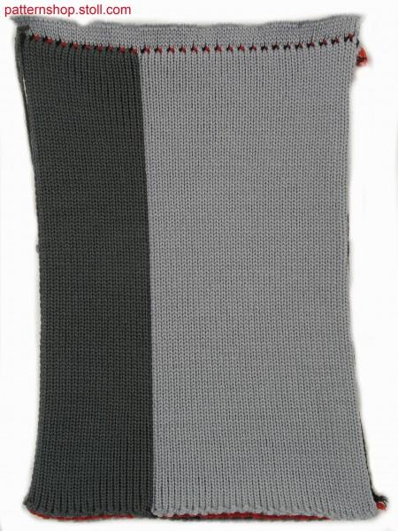 Four layer fabric (cross tubular) in 1x2 technique / Vierlagiges Gestrick (Kreuzschlauch) in 1x2 Technik