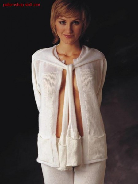 2-Colour intarsia-cardigan / 2-farbige Intarsiajacke