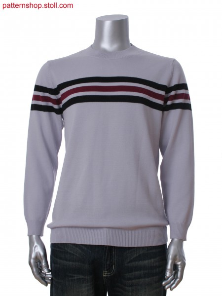 Fully Fashion men's pullover with 3-color stripes