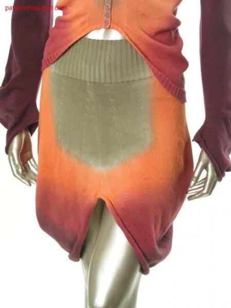 Jersey balloon skirt in tie-dye-technique / Rechts-Links Ballonrock in Bandana-Technik