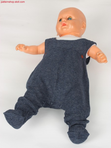 Purl knitted baby dungarees / Links-Links Baby-Latzhose