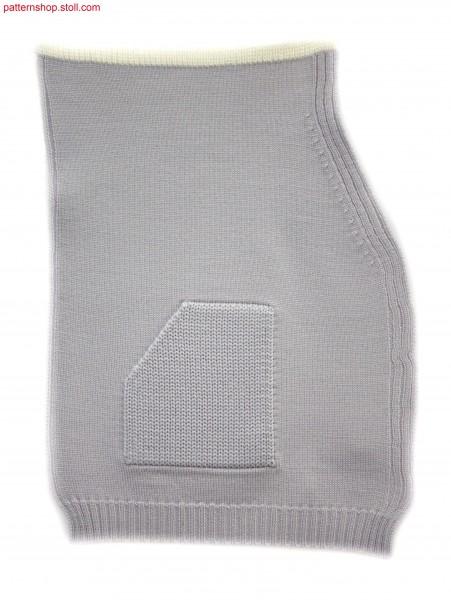 Fully Fashion jersey cardigan front / Fully Fashion Rechts-Links Jacken-Vorderteil