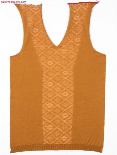 Fully Fashion front with filigree motif and V-neck / FullyFashion Vorderteil mit Filigranmuster und V-Ausschnitt