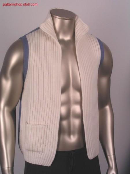 FF-Waistcoat, knitted in one piece / FF-Weste, in einem Teil gestrickt