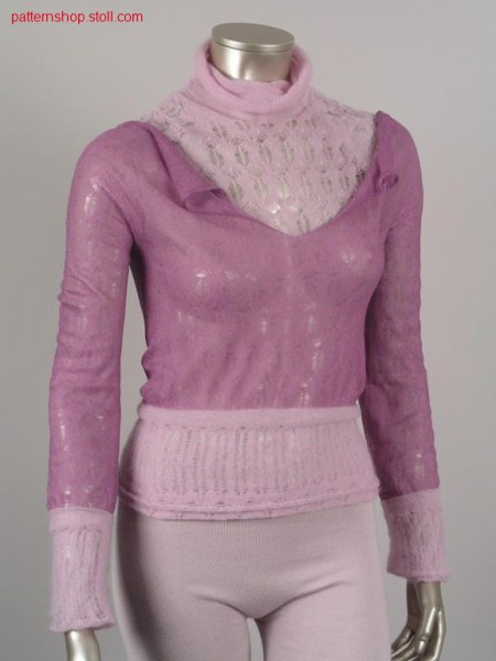 Jersey pullover with 2 layers in one another / Rechts-Links Pullover mit 2 Lagen ineinander