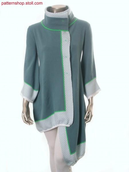 Felt-like Fully Fashion-intarsia coat / Filzartiger Fully Fashion-Intarsia Mantel