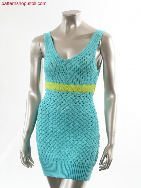 Fully Fashion sleeveless dress in hand-knit look /