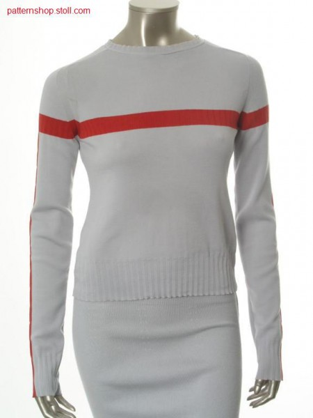 Fitted FF-Intarsia pullover with saddle shoulder / Taillierter FF-Intarsia Pullover mit Sattelschulter