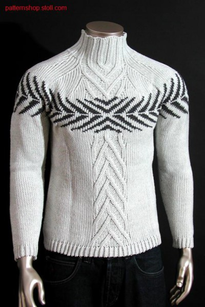Fitted fair isle pullover with 2-colour float jacquard / Taillierter Fair Isle Pullover mit 2-farbigem Flottjacquard