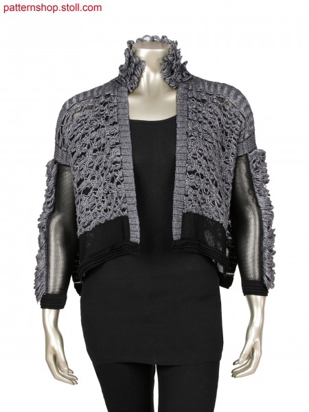 Fully Fashion jacket, layered structure with partial cast off