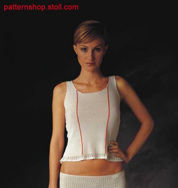 Fully Fashion front part with intarsia stripes / Fully Fashion Vorderteil mit Intarsiastreifen