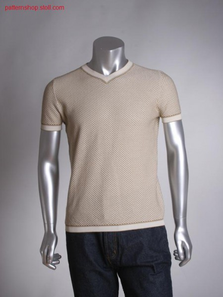 Two colour fully fashion T-shirt with transfer structure / Zweifarbiges Fully Fashion T-Shirt mit Umh