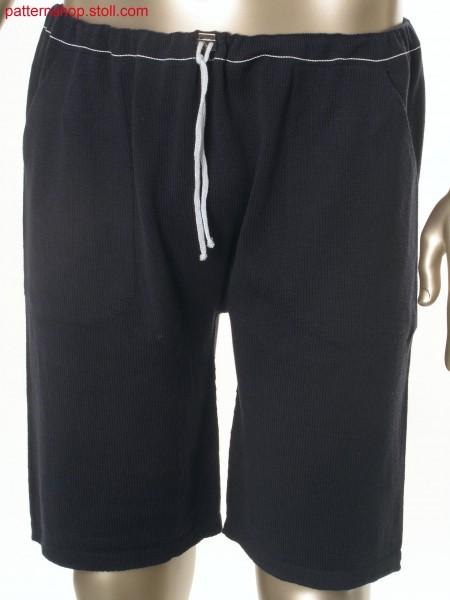 Jersey bermuda shorts with drawstring waist / Rechts-LinksBermudashorts mit Tunnelzug