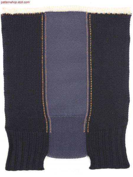 Swatch with cuffs in different length / Musterausschnitt mit unterschiedlich langen Rippb