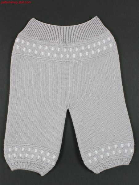Jersey baby-trousers with jacquard borders / Rechts-Links Baby Hose mit Jacquardbord