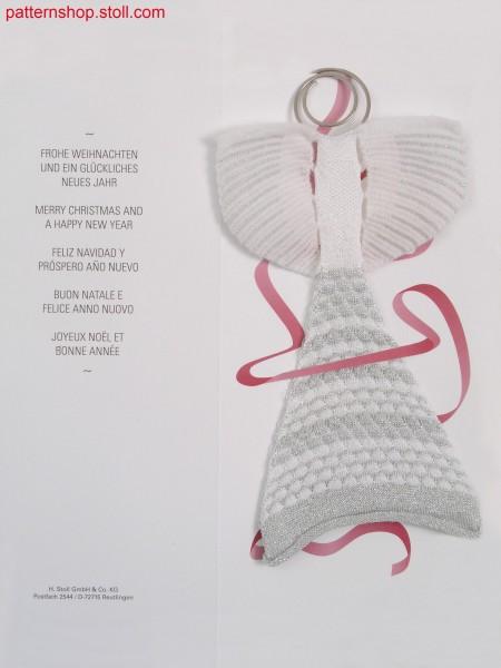 Christmas angel in tubular structure / Weihnachtsengel in Schlauch-Struktur Gestrick