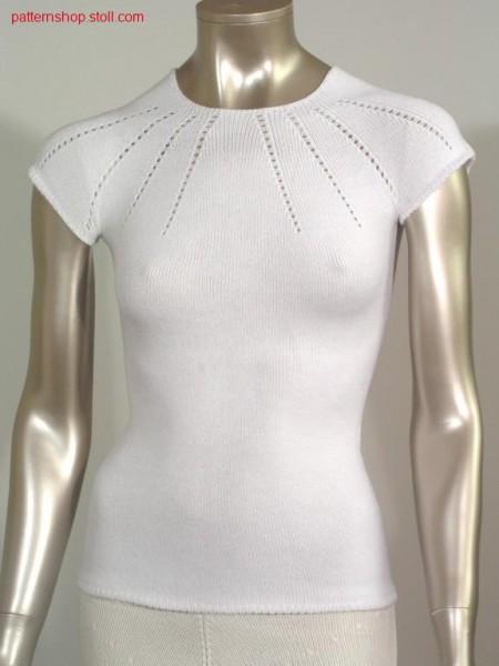 Fitted fair isle short-sleeved pullover / Taillierter Fair Isle Kurzarmpullover
