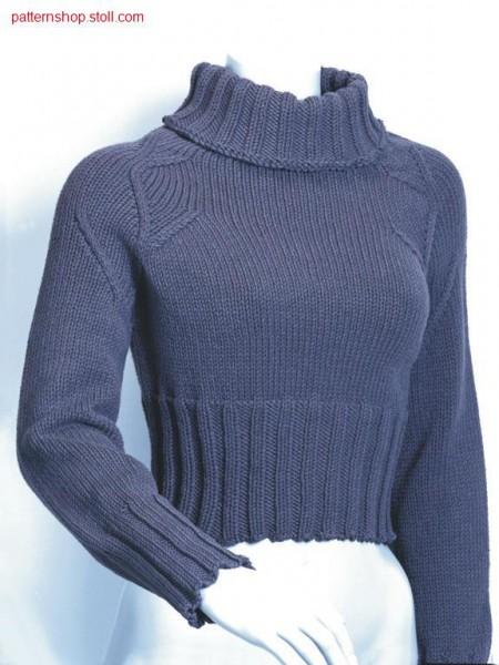 Jersey short pullover / Rechts-Links Kurzpullover