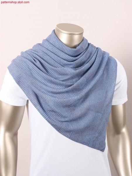 Foulard in inverse plated striped tubular transfer structure / Foulard in plattierter Schlauch-Umh