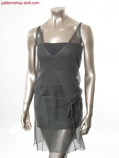 Mesh dress with V-neck and side slit / Netzkleid mit V-Ausschnitt und Seitenschlitz