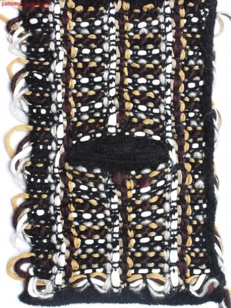 Swatch in tweed-like 7-colour float jacquard / Musterausschnitt in tweed