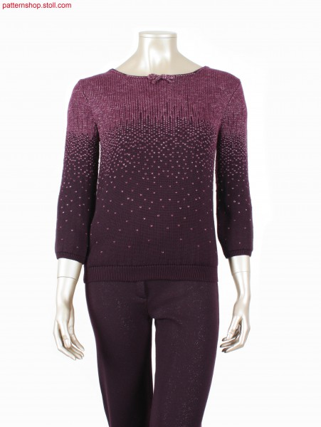 Fully Fashion pullover with degrade patterning / Fully Fashion Pullover mit Degrad