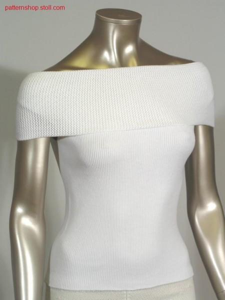 Pullover in 1x1 rib with boat neckline / Pullover in 1x1 Rippe mit U-Boot Ausschnitt