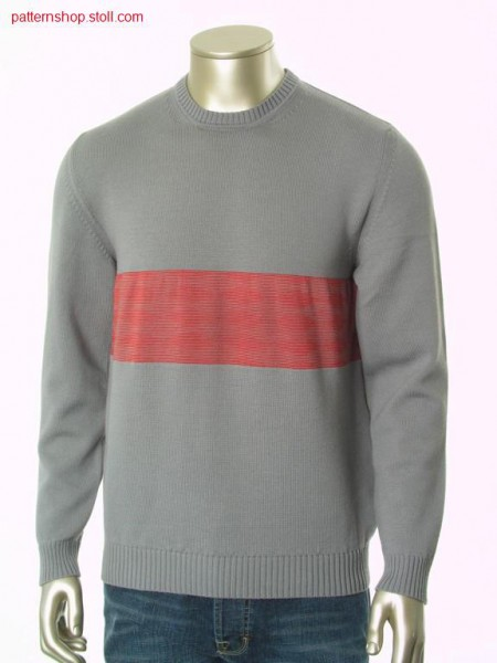 FF-jersey pullover with inserted sleeves / FF-Rechts-Links Pullover mit eingesetzten