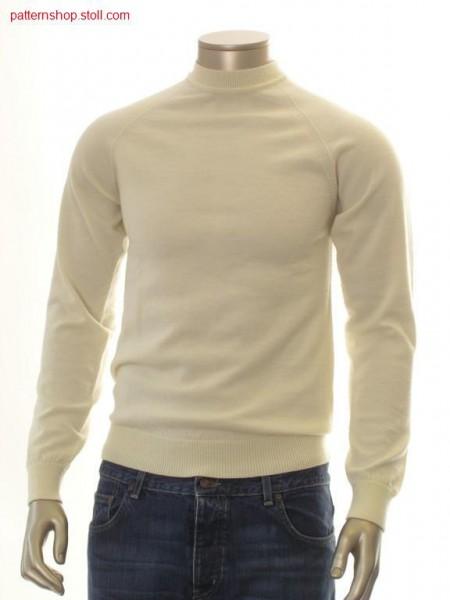 Jersey raglan pullover / Rechts-Links Raglanpullover