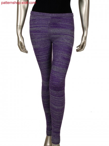 Fully Fashion leggings with 2 colours, pattern combinationwith links/links, alternate and tuck structures
