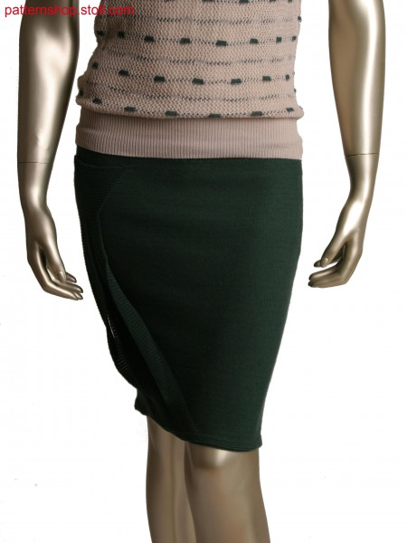 Fully Fashion skirt, Stoll-applications