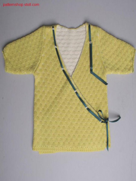 Titel Fully fashion baby's wrapover cardigan / Fully FashionBaby-Wickelstrickj