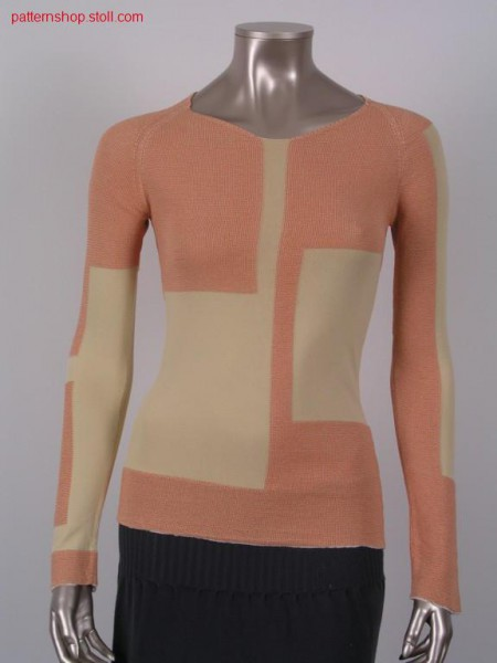 Fitted FF-Intarsia raglan pullover / Taillierter FF-IntarsiaRaglanpullover