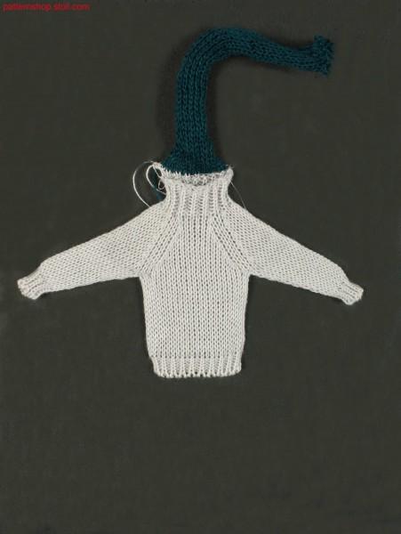 Jersey mini raglan pullover / Rechts-Links Mini-Raglanpullover