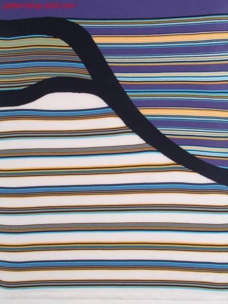 Hooped pattern with intarsia motif and gore technique / Ringelmuster mit Intarsiamotiv und Spickeltechnik
