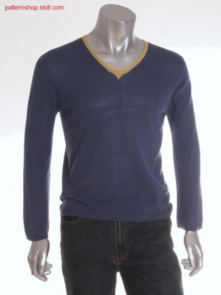 Jersey pullover with french shoulder / Rechts-Links Pullovermit franz