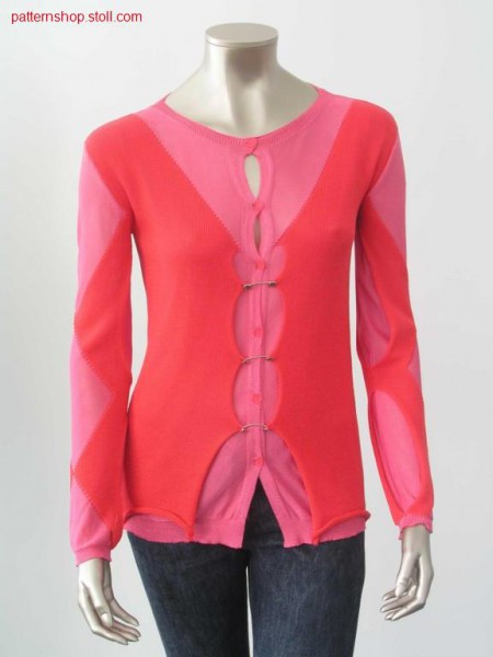 Jacket with buttonhole trim and button loops / Jacke mit Knopflochleiste und Schlingen.