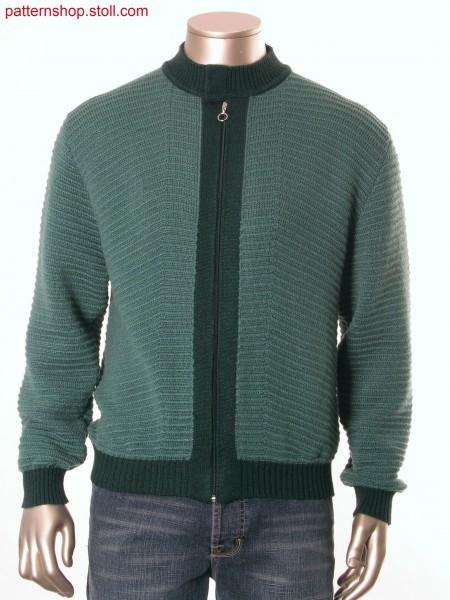 Fully Fashion cardigan with wave and pointelle structure /Fully Fashion Strickjacke mit Wellen und Petinetstruktur